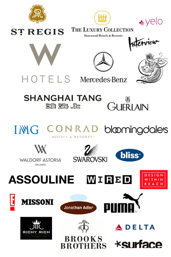 Past Projects Include Work for Global Brands Such As W Hotels, St. Regis and Mercedes Benz,